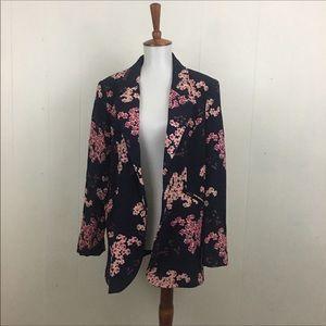 Cynthia Rowley Cherry Blossom Boyfriend Blazer